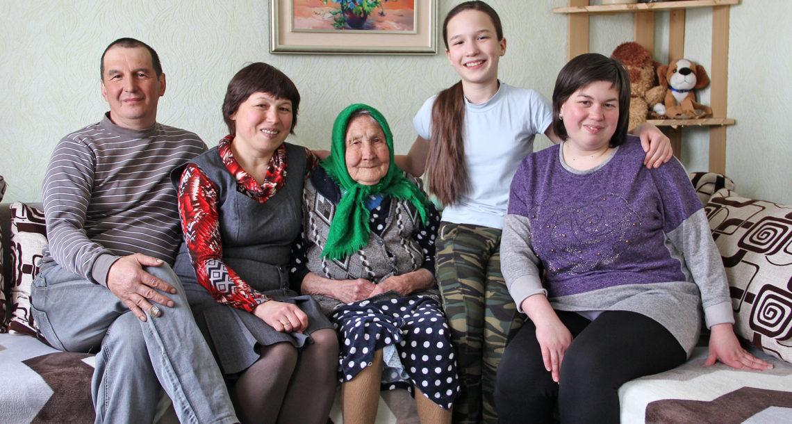 Семья Гайсиных из д. Ситцева Нязепетровского района