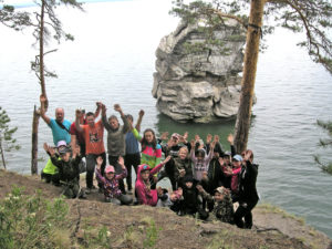 Ребята из Нязепетровского района на озере Иткуль