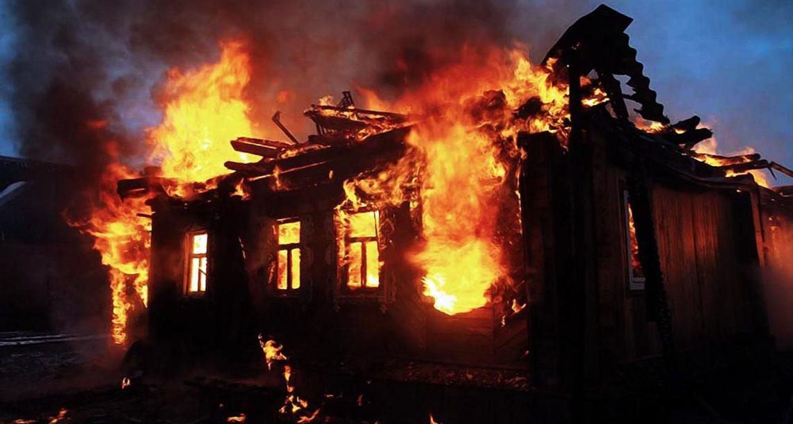 Пожар в д. Бехтерева Нязепетровского района