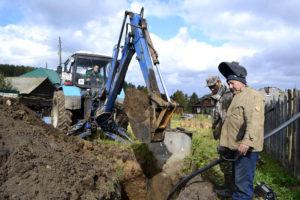 Ремонт водопровода в с. Арасланово Нязепетровского района