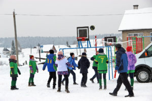 Новая спортплощадка у СОШ №3 г. Нязепетровска