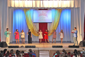 Участницы конкурса «Мисс-старшеклассница» в Нязепетровске