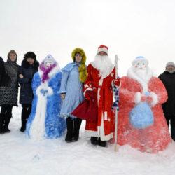 Снежные фигуры в с. Арасланово Нязепетровского района