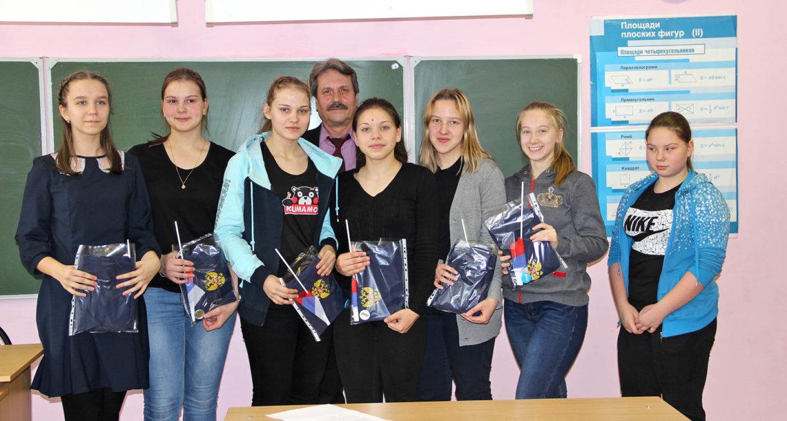 С.А. Володин с учениками СОШ№1