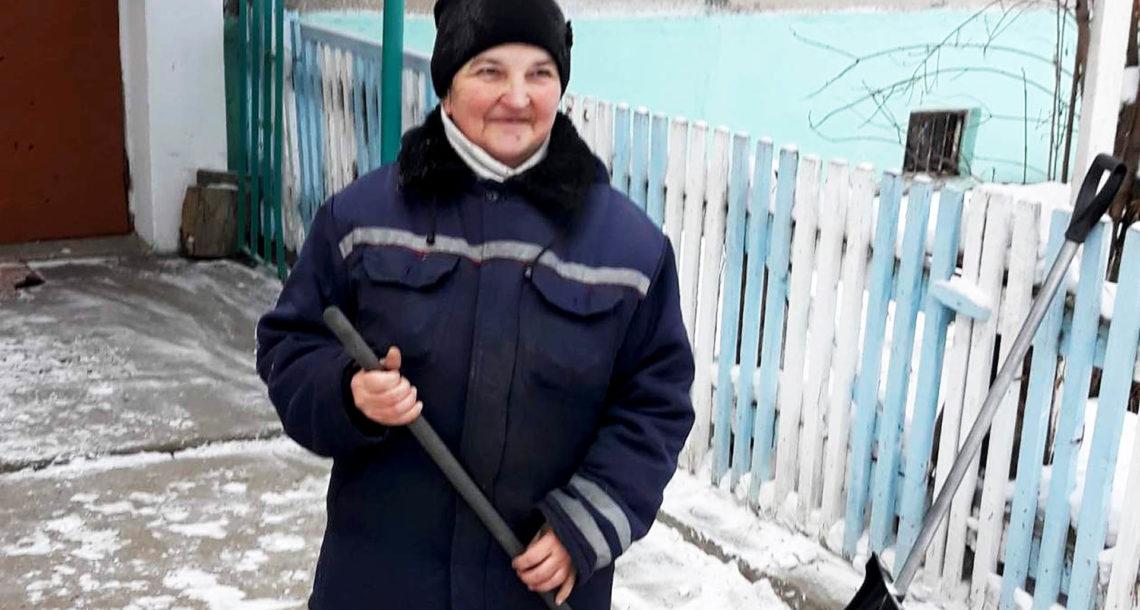 С.М. Исакова, дворник в Нязепетровске