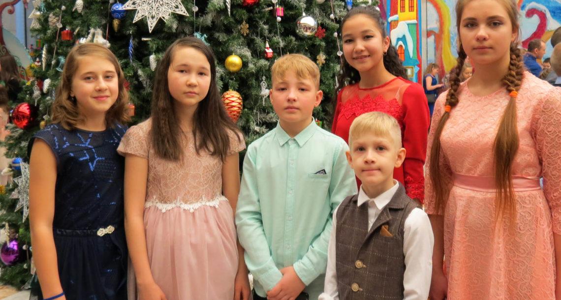 Ребята из Нязепетровска на елке в Кремле