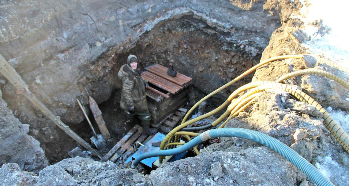 Строительство газопровода в Нязепетровске