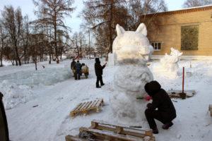 новогодний городок в Нязепетровске