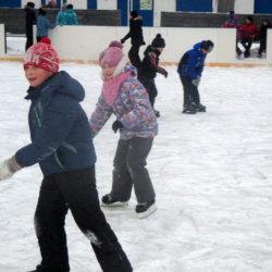 Юные жители Нязепетровска на коньках