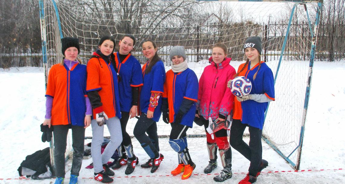 Команда футболисток из Нязепетровска