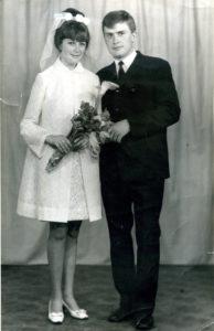 : И.Н. Карманова из Нязепетровска в свадебном платье