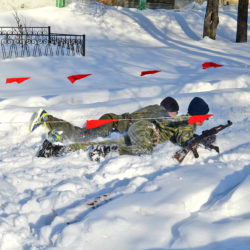 В Нязепетровске впервые прошла военно-спортивная игра «Рубеж»
