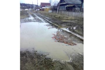 Вместо дороги в д. Межевая Нязепетровского района - лужа