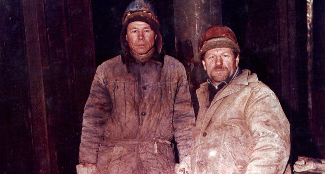 Житель Нязепетровска Р.Р. Болтачев на строительстве БАМа