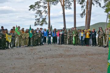 Воспитанники СЮТ Нязепетровска на слете на оз. Тургояк
