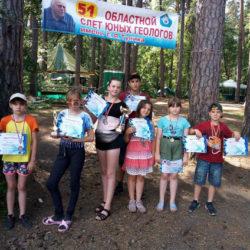 Ребята из Нязепетровска на слете юных геологов