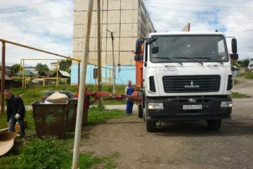 На улицах Нязепетровска замечен новый мусоровоз