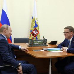 А. Теклер и В. Путин обсудили вопросы развития Челябинской области