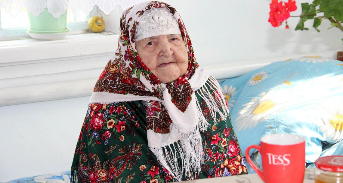 М.С. Хасанова из с. Арасланово отмечает 100-летие