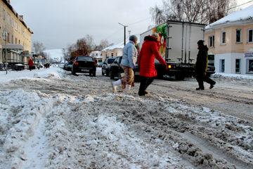 Снегопад в Нязепетровске