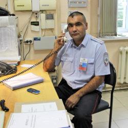 Р.А. Миндибаев, начальник дежурной части ОМВД России по Нязепетровскому району