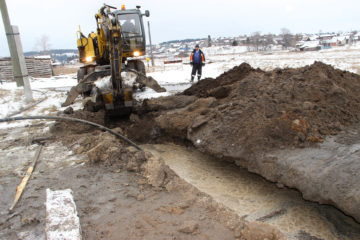 Строительство водопровода в Нязепетровске