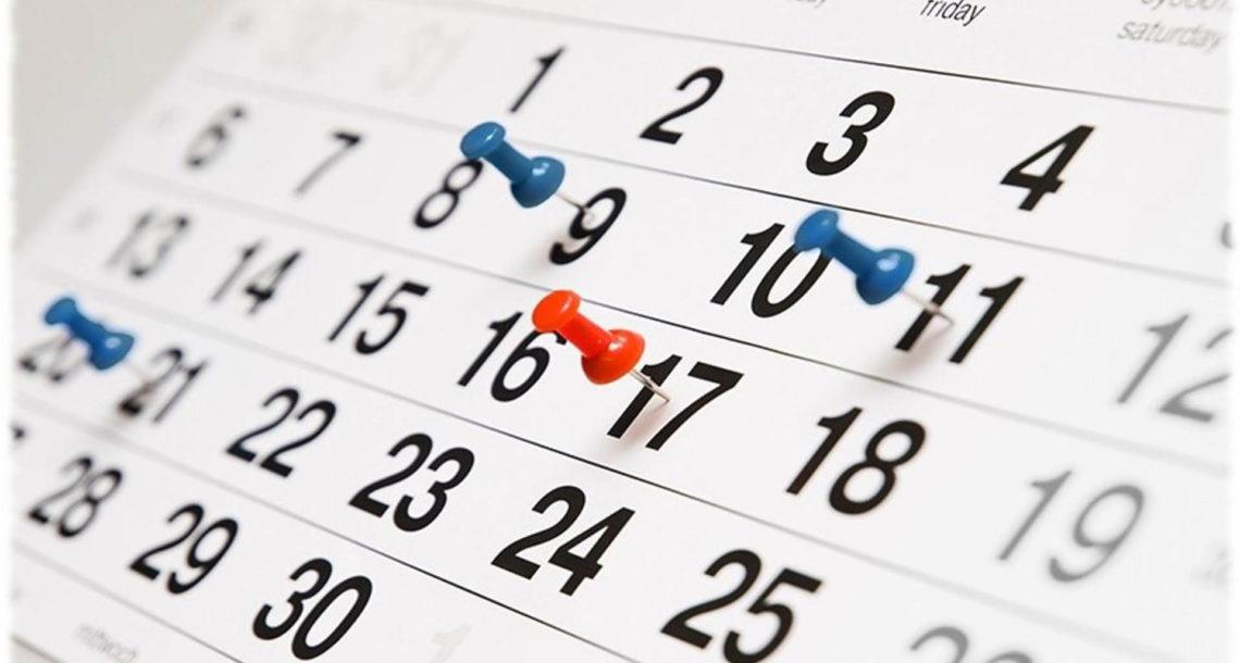 Календарь праздничных дней на 2020 год