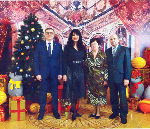 Семья Кисловых из Нязепетровска на приеме у А. Текслера
