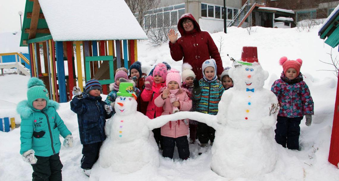 Снежные фигуры в детском саду Нязепетровска