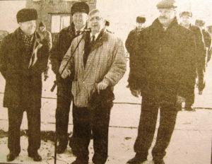 А.И. Цыпышев благодарит строителей газопровода в Нязепетровске