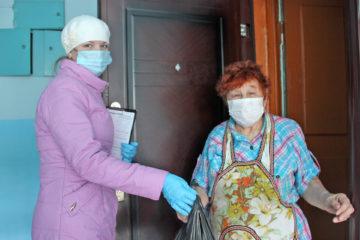 Пожилым жителям Нязепетровска продукты привозят домой