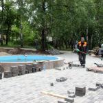 Реконструкция фонтана в Нязепетровске идет полным ходом