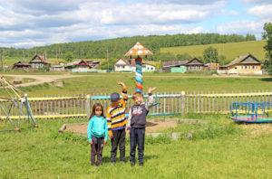 детская площадка в д. Ташкинова Нязепетровского района
