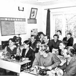 Занятия в техникуме в 70-е гг