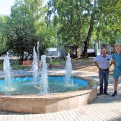 Фонтан в городском саду Нязепетровска