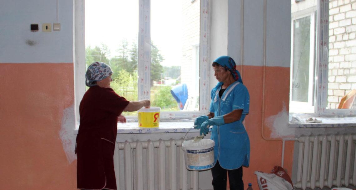 Ремонт в Первомайской школе в Нязепетровском районе