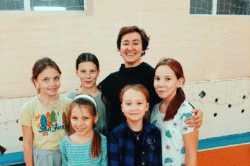 Школьники из д. Ситцева на тренировке