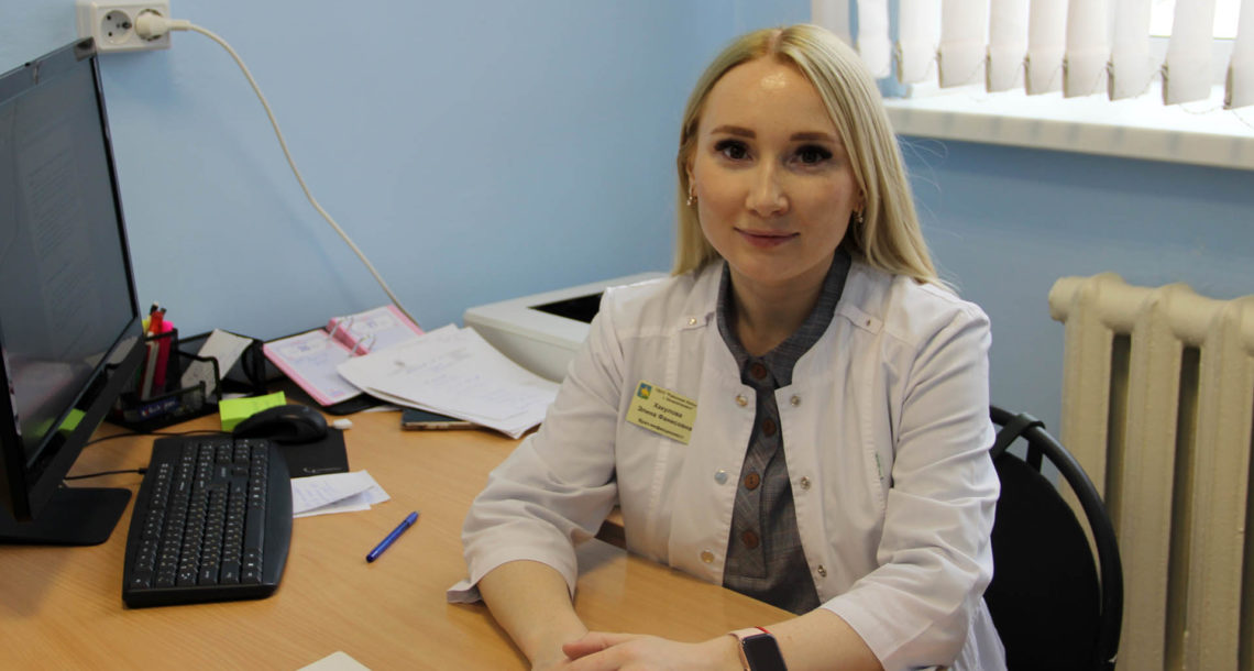 Э.Ф. Хакулова, инфекционист Нязепетровской больницы
