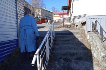 Лестница в центре Нязепетровска требует ремонта