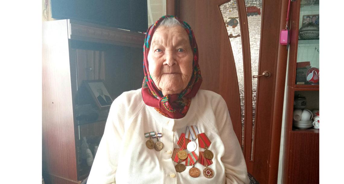 Долгожительница М.Ф. Илюшкина из Нязепетровска