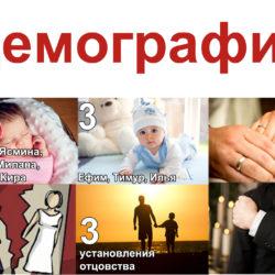 Демографическая ситуация, июнь