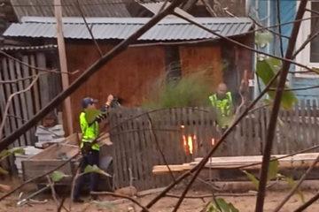 старая ЛЭП чуть не стала причиной пожара